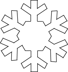 photograph regarding Snowflake Printable identified as Snowflake Template