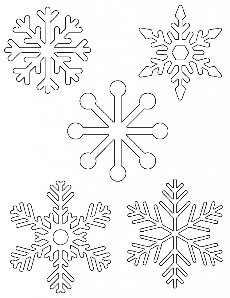 Snowflake Template For Kids #18335