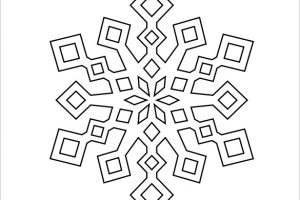 snowflake template paper snowflakes template free download