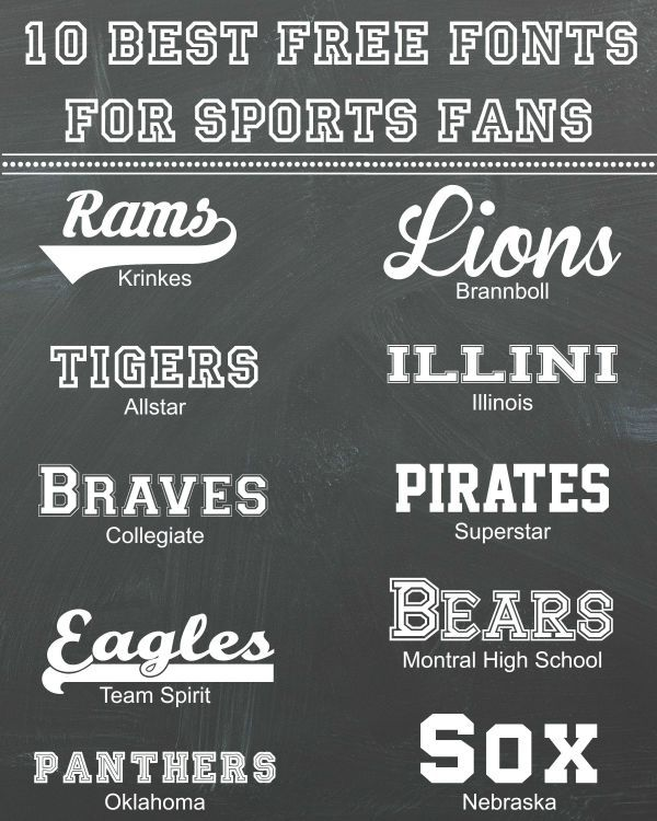 20+ Sports Fonts TTF, OTF, Download | Design Trends Premium