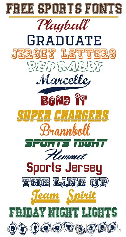 Sportsfonts. High Quality Custom Typefaces for Sports and