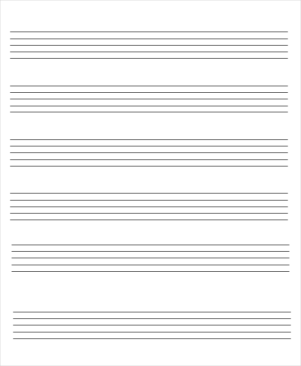 Music staff paper (12 per page) Office Templates