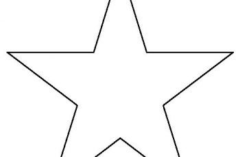 star template inch star template printable