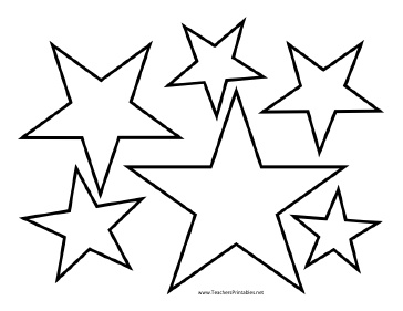 picture relating to Printable American Flag Star Stencil named Star Template