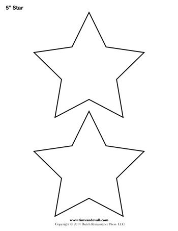 Free printable star templates for your art projects. Use these