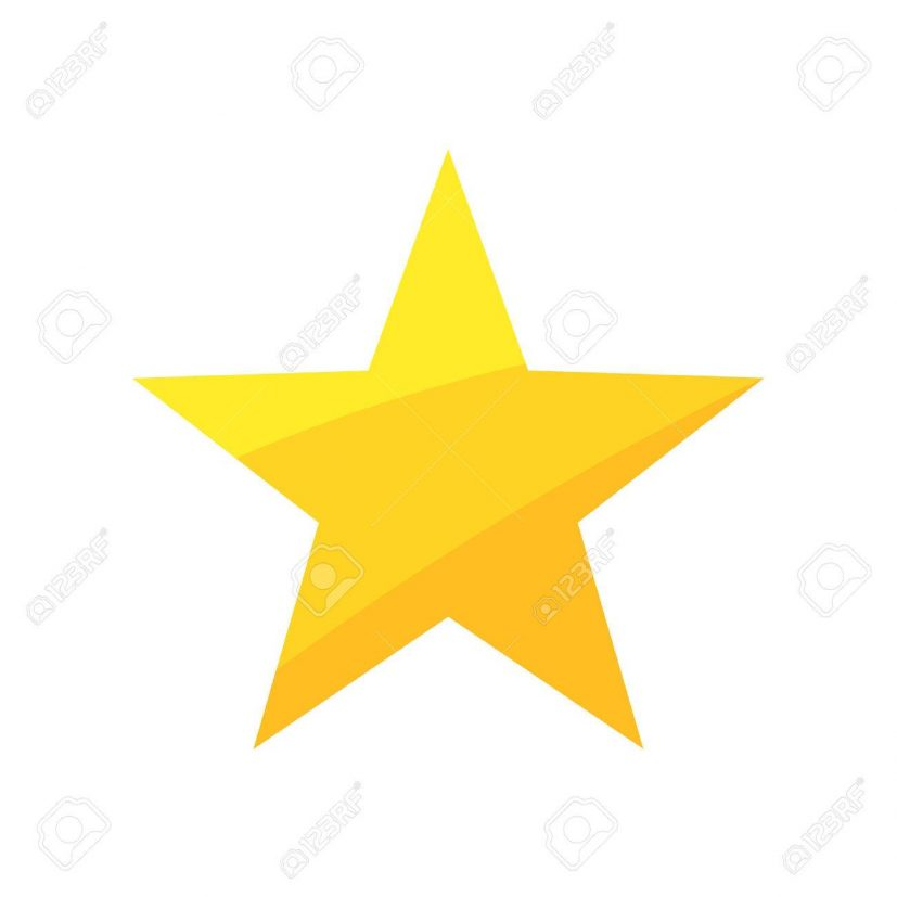 Gold Star. Vector Illustration Royalty Free Cliparts, Vectors, And