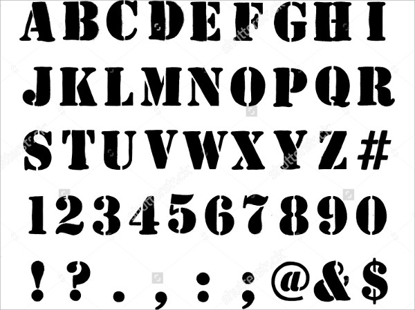9+ Stencils Letters Free Sample, Example, Format Download | Free