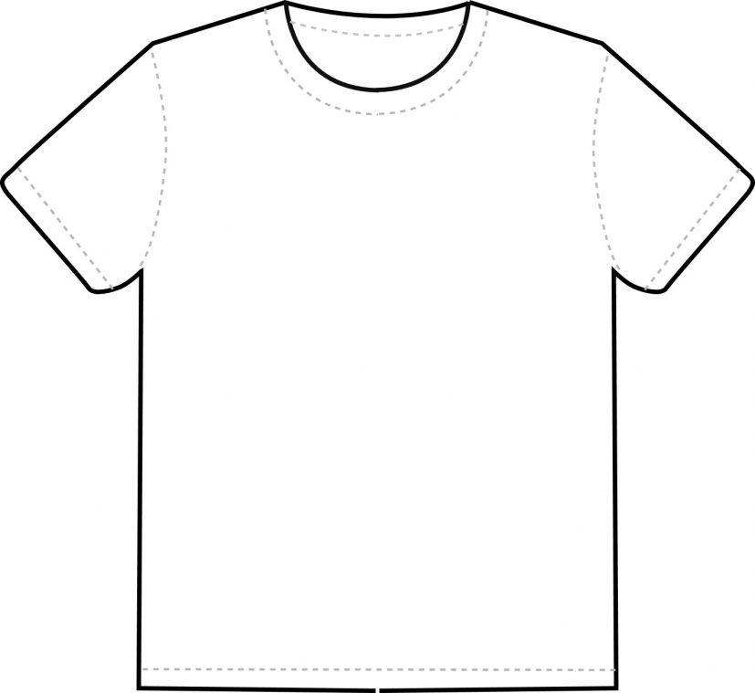 Printable Shirt Template Blank Tshirt Professional Templates Site
