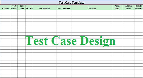 Software Test Design WORK FOR QUALITY