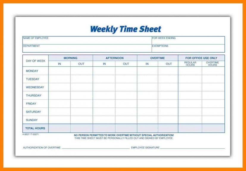 printable timesheets Ideal.vistalist.co