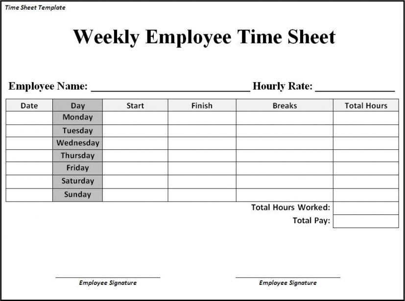 basic time sheet Ideal.vistalist.co
