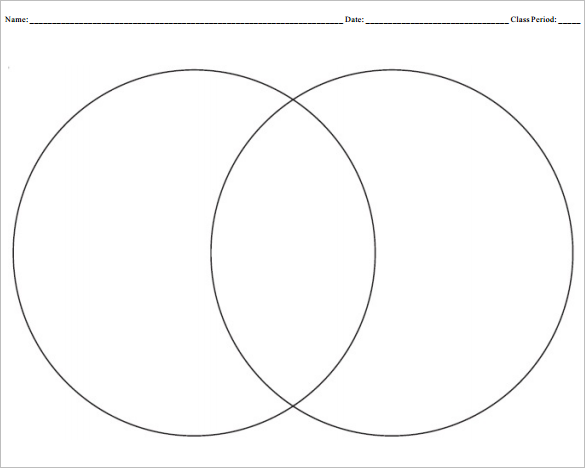 Blank Venn Diagram Templates – 10+ Free Word, PDF Format Download