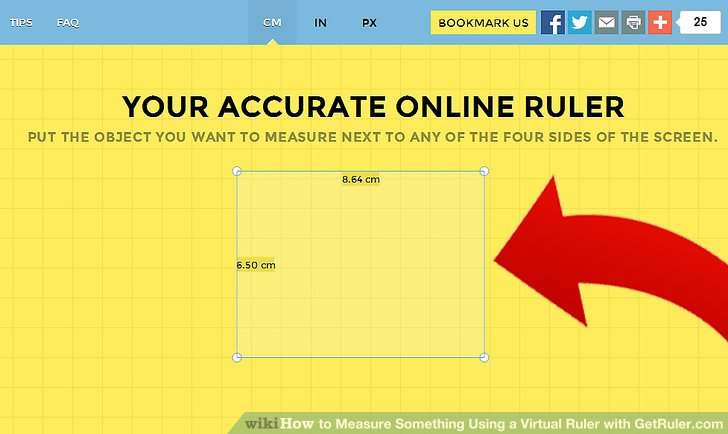 How to Measure Something Using a Virtual Ruler with GetRuler.com