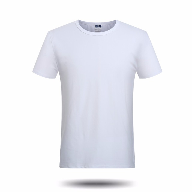 Brand New Solid White Blank T Shirt Men Boys Casual Short Sleeve