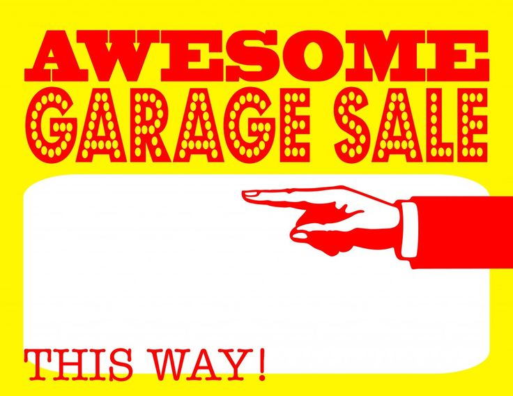 24 best Yard Sale Signs and Printables images on Pinterest | Yard