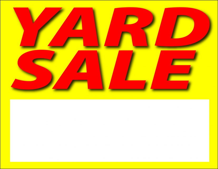 yardsale sign Ideal.vistalist.co