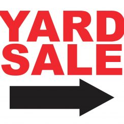 yard sale signs s p i w