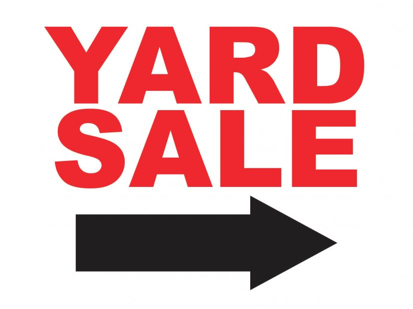 Yard Sale Sign with Arrow