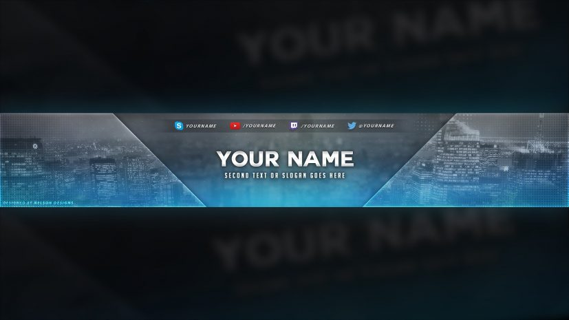 City Themed YouTube Banner Template Free Download [PSD] YouTube
