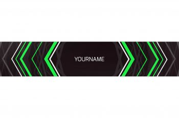 youtube banner preview hexa youtube banner green