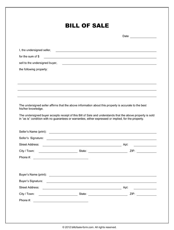 bill of sales form pdf   Hizli.rapidlaunch.co