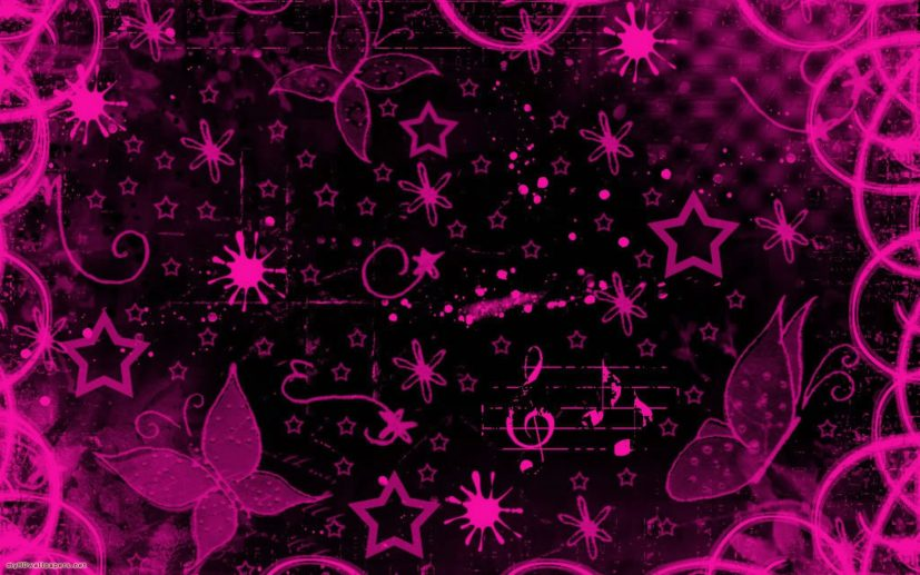 Black And Pink Wallpaper 0 | Aslania.com