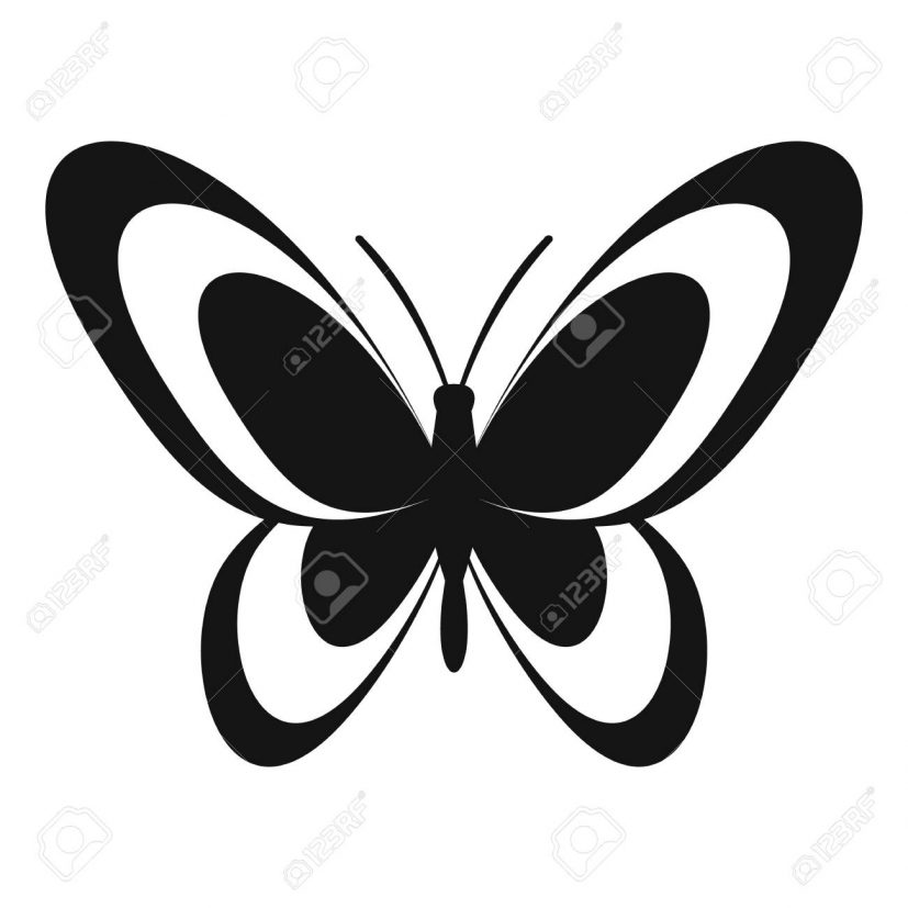 Butterfly Icon. Simple Illustration Of Butterfly Vector Icon