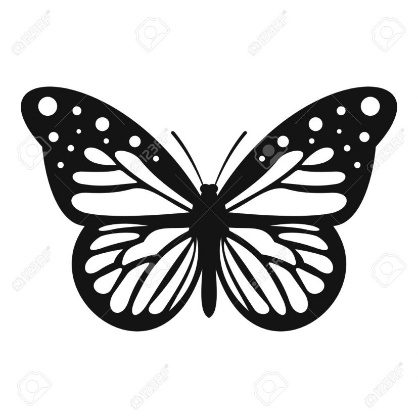 Big Butterfly Icon. Simple Illustration Of Big Butterfly Vector