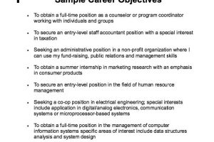 career objective examples resumes career objective examples for