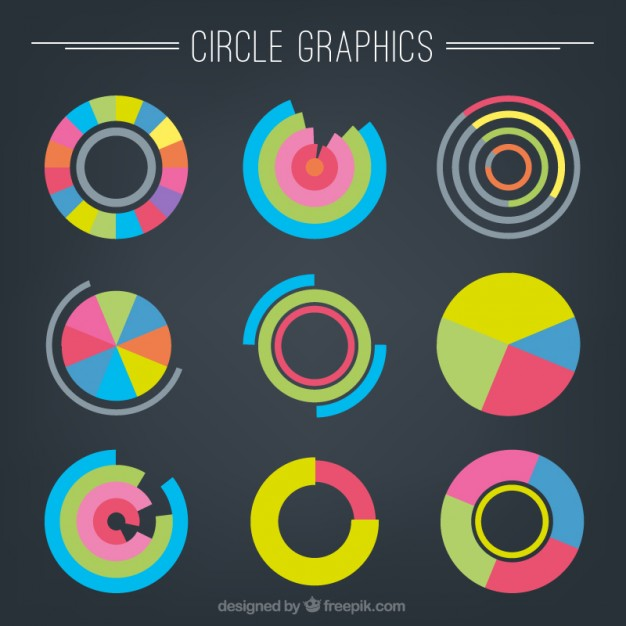 Circle graphics Vector | Premium Download