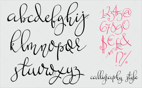 Cursive Handwriting Font 9 Fonts Free Sample Example Format