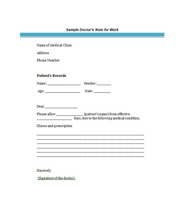 25+ Free Doctor Note / Excuse Templates   Template Lab
