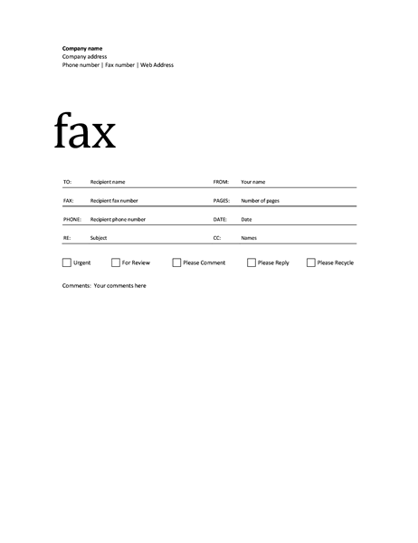 Fax Covers Office.com