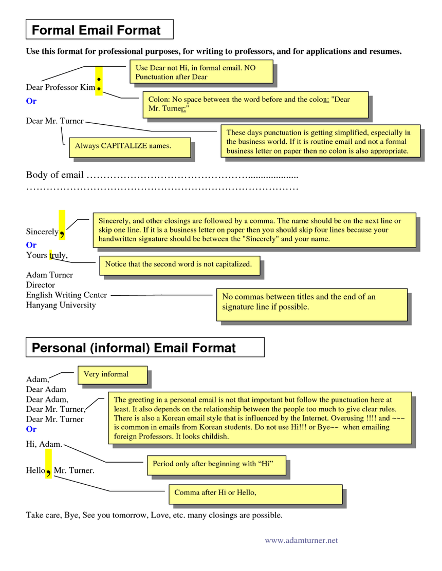 Formal email format image courtesy of docstop.| career growth