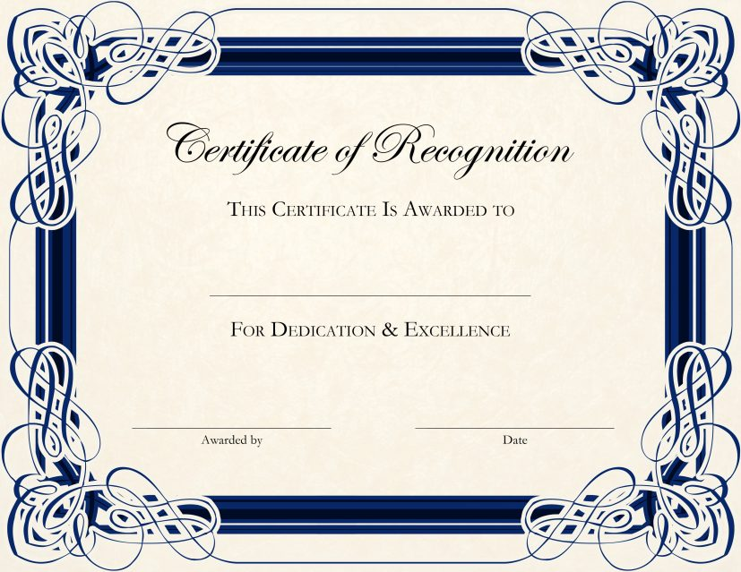 free printable editable certificates Incep.imagine ex.co