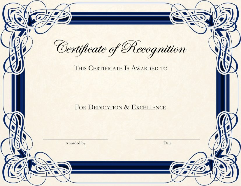 certificate of appreciation template free printable Incep