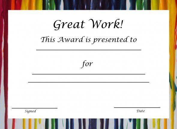 free printable certificate templates for kids best 25 free
