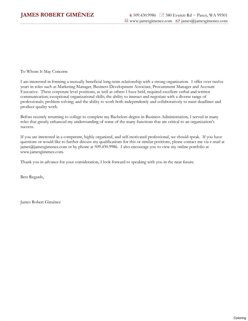 Lovely Word Document Cover Letter Template | Aguakatedigital