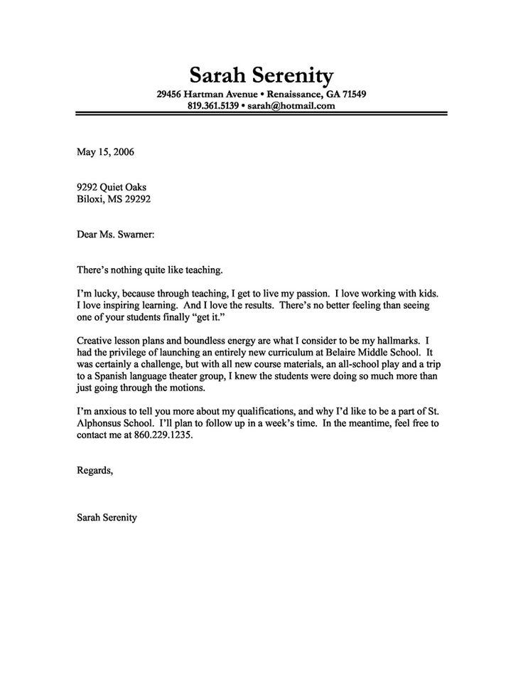 Good Example Of A Cover Letter Superb Example Of A Cover Letter