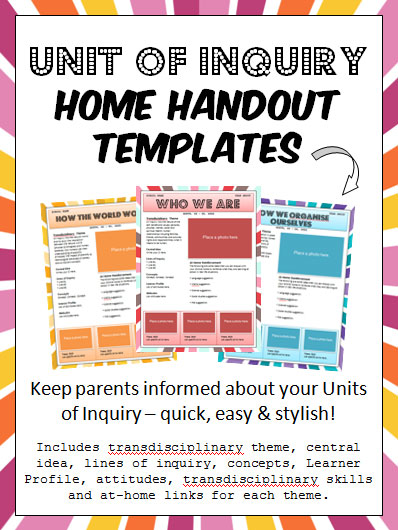 handout template snip snap scraps unit of inquiry home handout