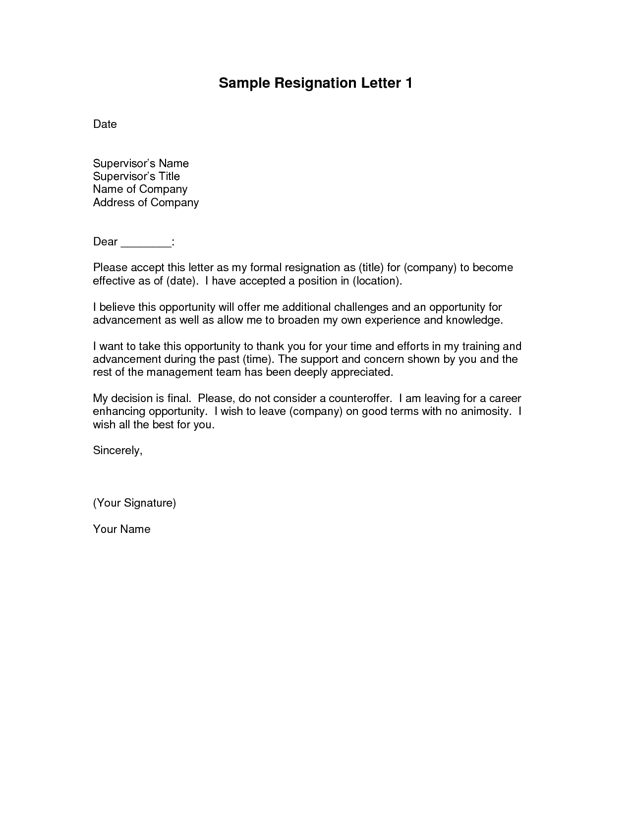 Popular Resignation Letter Format And Sample Fresh Elegant Letter