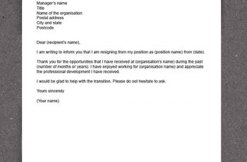 how to write a resignation letter sample resignation letter x