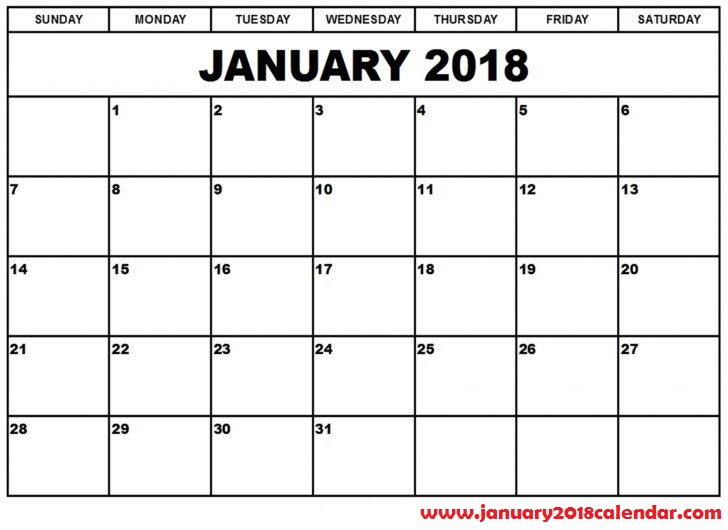 january 2018 calendar excel   Incep.imagine ex.co