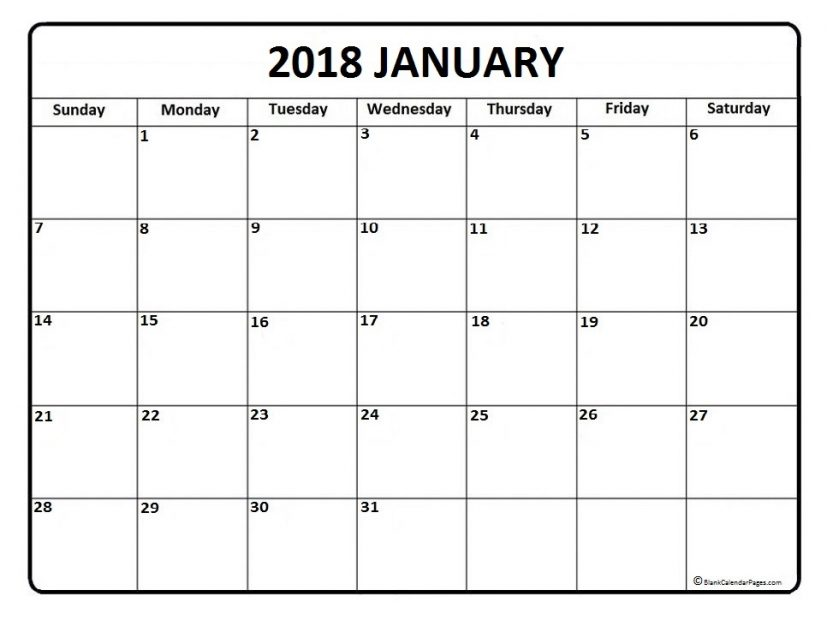 blank calendar january 2018 printable   Incep.imagine ex.co