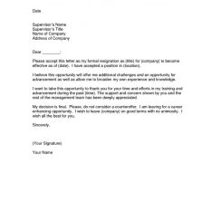 letter of resignation example good letters of resignation examples of letters resignation example letter efficient depiction