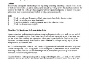 literature review example dissertation literature review example