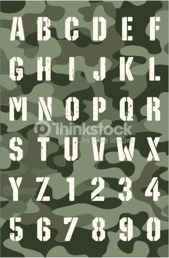 Military Font Vector Art 164194520 | GP | Pinterest | Vector art