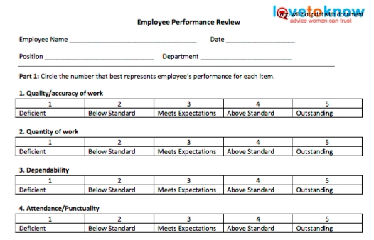 70 fabulous & free employee performance review templates   Uptick