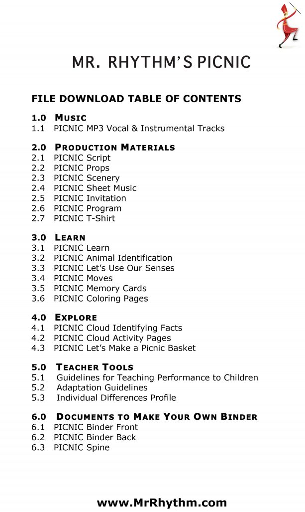 Children's Play Script | Picnic Adventure | Music and Educational