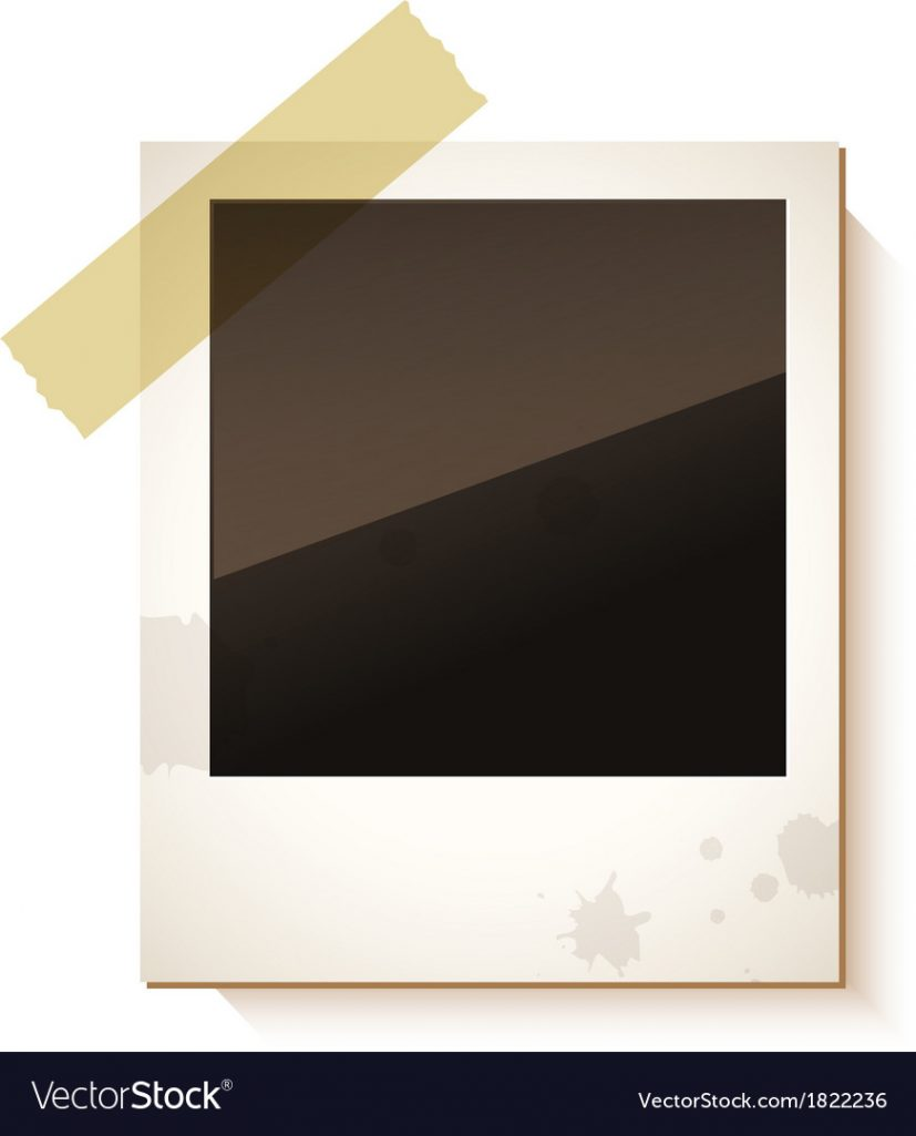Old Polaroid photo frame Royalty Free Vector Image